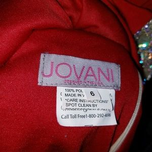 Jovani Dresses - Jovani red prom dress beaded with train size 6